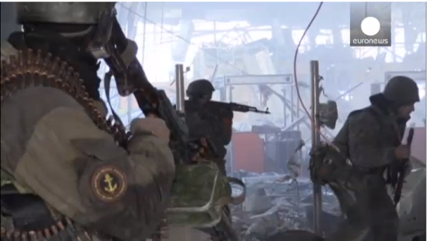 Ukrainian soldiers claim to have wrested control of Donetsk airport from pro-Russian rebels. | euronews, world news